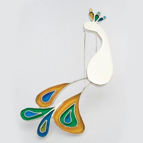 "BROOCH ""PEACOCK"""
